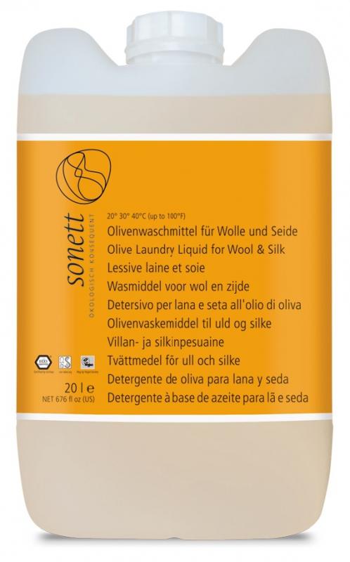 SONETT Olivový prací gel na vlnu a hedvábí 20 l